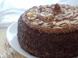 Бананово-шоколадний торт