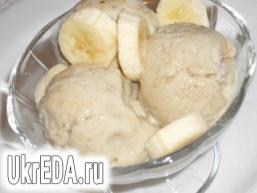 Бананово-вершкове морозиво