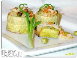 Барила з кабачків, фаршировані рисом і овочами