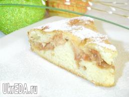 Швидкий пиріг з яблуками на кефірі