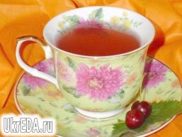 Чай зелений з персиком, вишнею і м'ятою