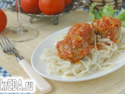 Фрикадельки до спагетті