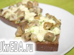 Грибна закуска на хлібі