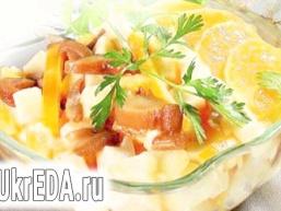 Грибний салат з апельсином