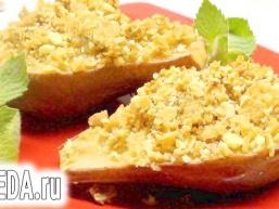 Груші та Яблука печені, в стилі «Крамбл».