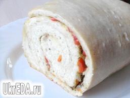 Хліб-рулет з овочами (на заквасці)