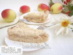 Яблучно-сирний насипний пиріг