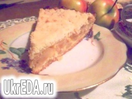 Яблучний пиріг - sour cream apple pie