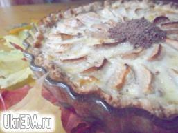 Яблучний тарт з шоколадом