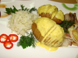 Картопля з беконом