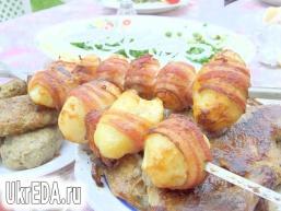 Картопля в беконі. Шашлик з картоплі як гарнір або самостійне блюдо.