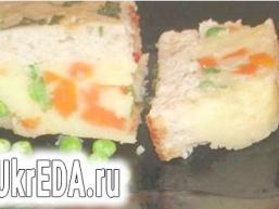 Картопляно-овочева запіканка з рибним суфле