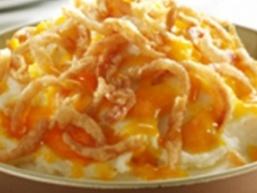 Картопляне пюре зі смаженою цибулею