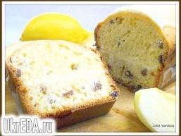 Кекс йогуртовий з лимонним кремом і глазур'ю.