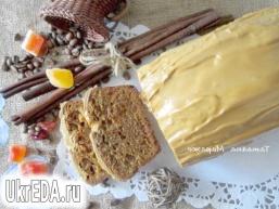 Кекс з цукатами і кавовій глазур'ю