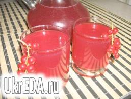 Кисіль з червоної смородини