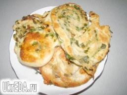 Китайські млинці з зеленою цибулею