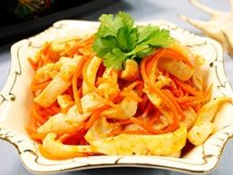 Корейська салат з кальмарів