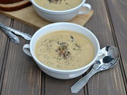 Крем-суп з білих грибів