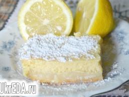 Кремові лимонні квадратики