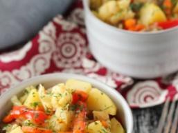 Куряче філе з овочами