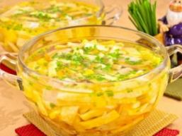 Легкий курячий суп