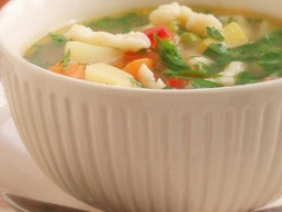 Легкий суп з галушками на кефірі