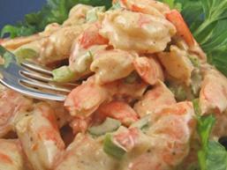 Літній салат з креветками