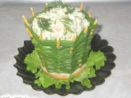 Цибулеві кошики для салатів