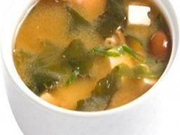 Місо-суп з креветками и тофу