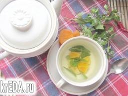 М'ятний чай з курагою