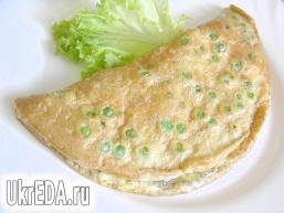 М'ятний омлет із зеленим горошком