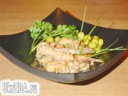 «Морський коктейль» в вершково-соєвому соусі