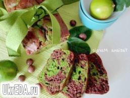 Мармуровий кекс (шоколад-шпинат)