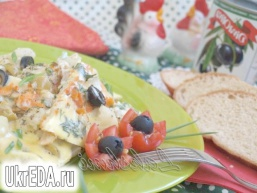 Омлет з кольоровою капустою по-середземноморському