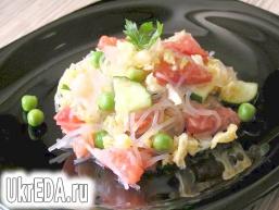Овочевий салат з фунчозой