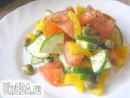 Овочевий салат з каперсами