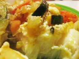 Палтус з овочами