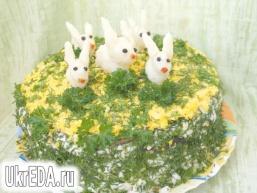 Печінковий торт з грибами