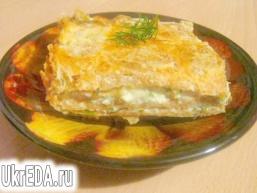 Пиріг з лаваша з сиром і зеленню