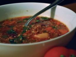 Пісній суп з гречки