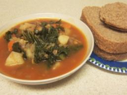Пісній суп зі шпинатом