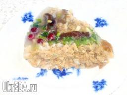 Святковий холодець з грибами і журавлиною