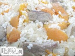 Рис з м'ясом і абрикосами