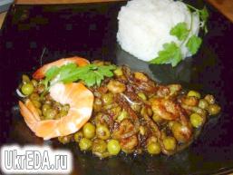 Рисова вермішель з креветками по-китайськи