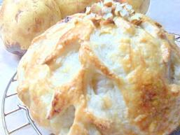 Різдвяний пиріг з сухофруктами і камамбером.