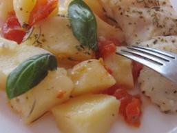 Рибне філе з картоплею