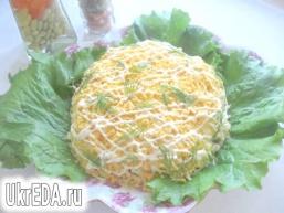 Салат з індички з ананасами
