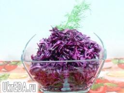 Салат з червонокачанної купусти