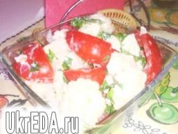 Салат з помідор і цвітної капусти